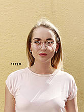 Имиджевые очки в золотистой оправе