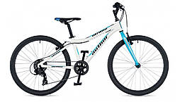 """Велосипед для девочек AUTHOR (2019) Ultima 24"""", рама 12,5"""", цвет-белый (голубой) // голубой (AR)"""