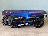 Двухколесный складной самокат Scale Sports Scooter 460, Черно-синий, фото 3