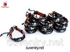 Шкіряні браслети зі знаком зодіаку