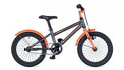 """Детский Велосипед AUTHOR (2019) Stylo 16"""" II, рама 9"""", цвет-серый // неоново оранжевый (AR)"""