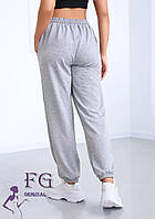 Серые женские спортивные брюки с высокой посадкой  В 019/ 02, фото 1