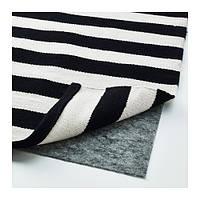 STOCKHOLM Ковер, безворсовый, ручная работа полоска, в полоску белый с оттенком черный/белый с оттенком
