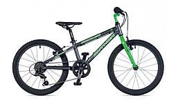 """Детский Велосипед AUTHOR (2019) Cosmic 20"""", рама 10"""", цвет-графитовый // зелёный (AR)"""
