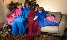 Согревающий плед-одеяло с рукавами Snuggie, фото 3