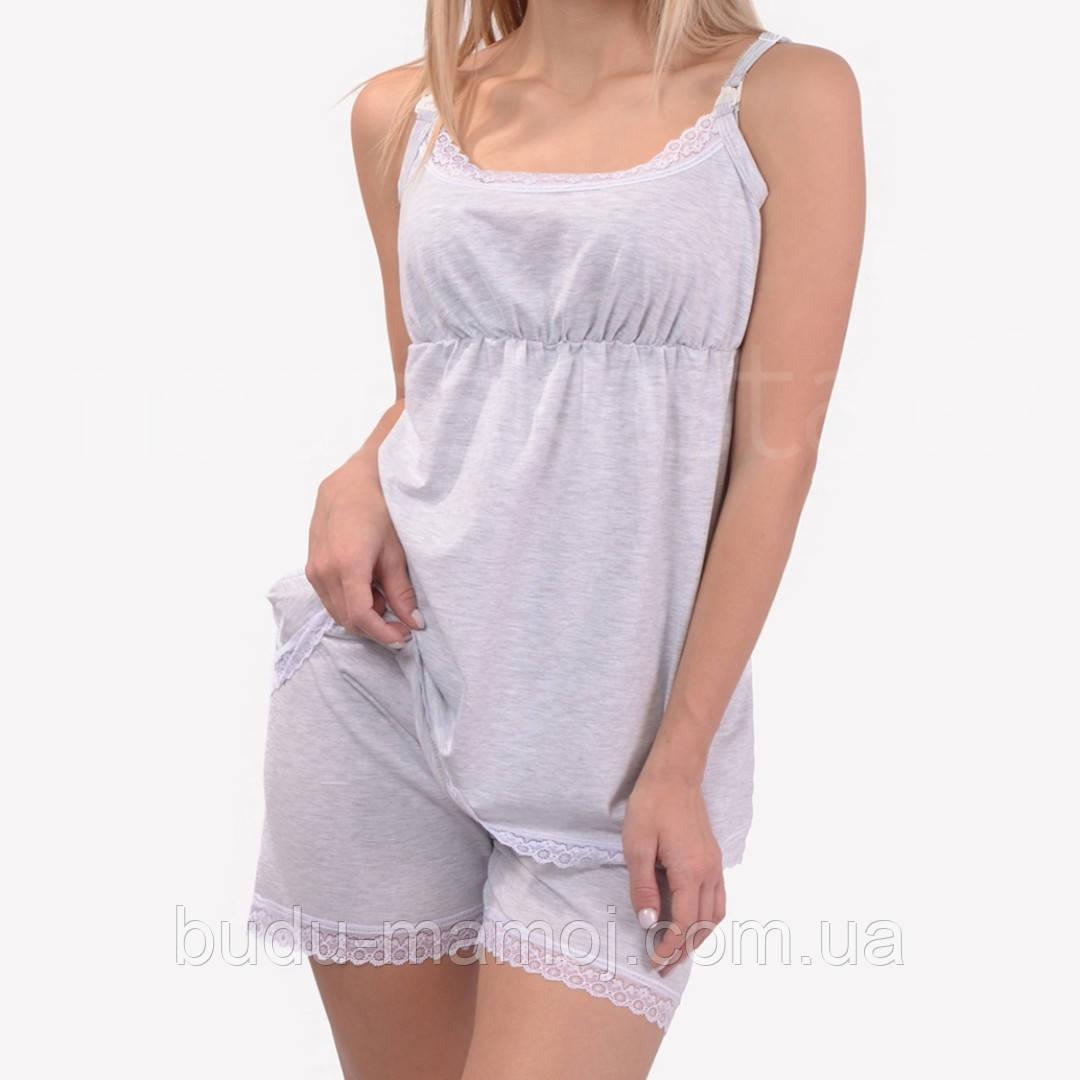 Пижама для кормящих шорты и майка для кормления Люкс