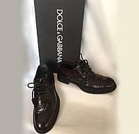 Туфли мужские броги Dolce&Gabbana Италия оригинал, натуральная кожа, размер 41