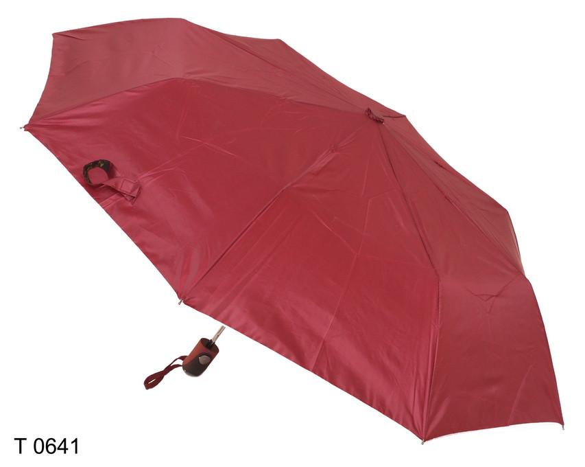 Зонт женский полуавтомат бордовый