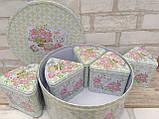 """Коробка подарункова """"Шматочок пирога"""" з жерсті, h-11 см 60 грн, фото 4"""