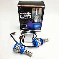 Комплект LED ламп головного світла H7 35W 6000K 12/24v з активним охолодженням TurboLed T1 2шт
