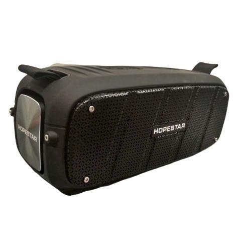 Бумбокс беспроводная колонка аккумуляторная Bluetooth акустическая система USB FM 55 Вт Hopestar A20 черная
