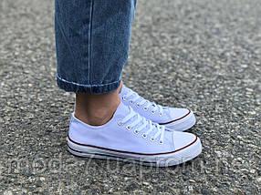 Женские кеды Converse белые реплика, фото 2