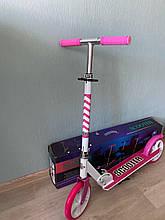 Двухколесный складной самокат Scale Sports Scooter 460,  Розовый, большие колеса