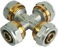 Крестовина металопластиковая диаметр16 х 16 х 16 х 16