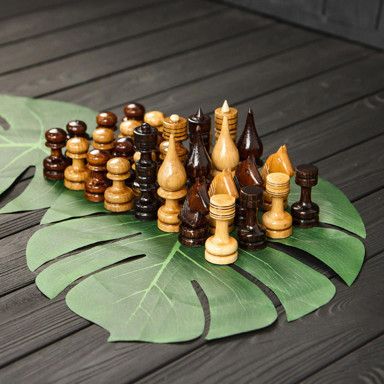 Набор элитных шахматных фигур из дерева ручной работы STRYI, фото 1