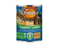 Лазурь-лак антисептический PINOTEX CLASSIC LASUR для древесины матовый калужница 1л