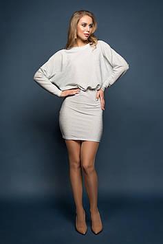 Платье серебристое Милена