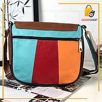 Женская цветная сумка / Женская сумочка из натуральной кожи