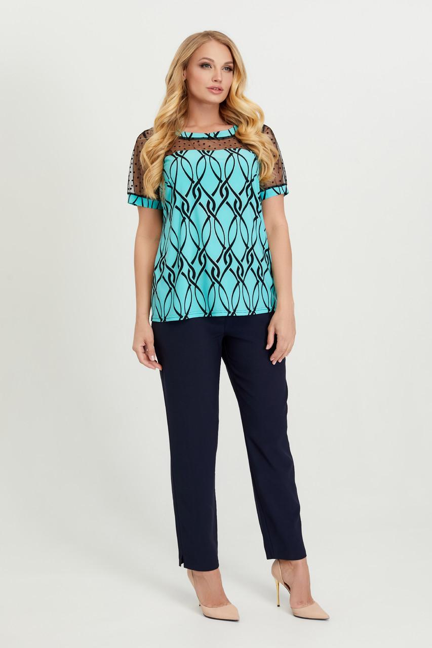 Блуза бирюза Люся