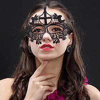 Женская карнавальная маска на глаза чёрный ( 190 005 )