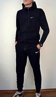 Теплый спортивный костюм Nike черный на молнии купить в розницу +50грн