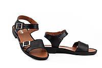 Женские босоножки кожаные летние черные Mkrafvt Comfort