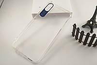 Прозрачный силиконовый чехол Epic clear flash для Realme 3 (Бесцветный / Синий)