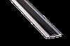 Порог алюминиевый 17А с резинкой 1,8 метра серебро 4,8х46мм скрытое крепление  - Фото
