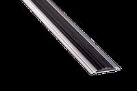 Поріг алюмінієвий 17А з гумкою 0,9 метра срібло 4,8х46мм приховане кріплення, фото 1
