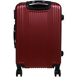 Пластиковый Чемодан на колесах большой дорожный для путешествий LYS ACCESORIOS OULANDO 47х70х30 см. Бордовый, фото 5
