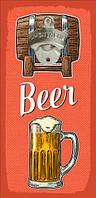 Настінна відкривачка для пляшок Beer 32*15 см (ODP_20J009)