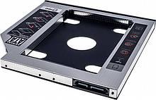 """Адаптер Grand-X HDD 2.5"""" у відсік приводу ноутбука SATA/SATA3 Slim 9,5 mm (HDC-24C)"""