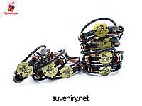 Модные кожаные браслеты со знаком зодиака на застежке, фото 1