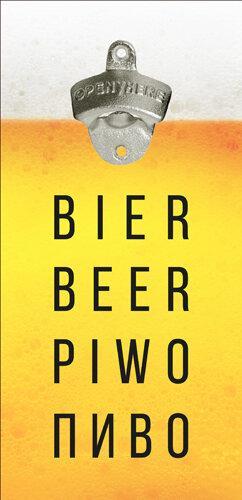 Настенная открывалка для бутылок Bier 32*15 см (ODP_20J004)