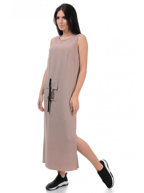 Удлиненное летнее платье-сарафан прямого силуэта в casual-стиле, р.42-44 код 3447М