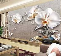"""Фото шпалери """"3D Орхідеї і метелики"""""""