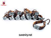 Красивый кожаный браслет со знаком зодиака