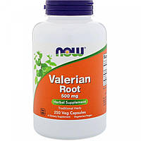 Now Foods, валериана (250 капсул), БАД, valerian root, валеріана