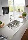 Grohe Мойка для кухни 585 x 440 мм, под столешницу, 1,5 чаши, матовая (31576SD0), фото 4