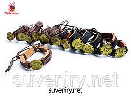 Стильные кожаные браслеты со знаком зодиака