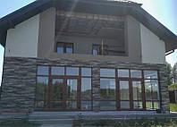 Гибкий камень. цокольный сайдинг. панели фасадные. плитка лонг формата, бесшовный монолит. Фасовка 2,16 м²