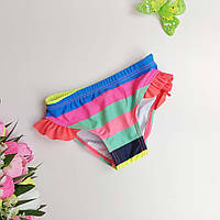 Плавки купальные полосатые для девочки с оборками 1-5 р
