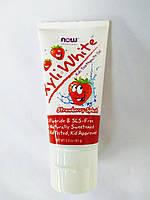 """Now Foods, Xyli White, Зубна паста-гель для дітей, """"Полуничний смак"""", (85 г)"""
