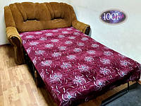 Дивандек, покрывало велюровое на диван №01, Полуторное