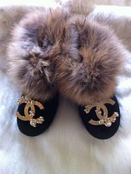 Жіночі повністю натуральні уггі, шапка і рукавиці у продажу окремо