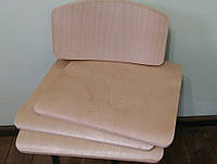 Комплект фанеры для школьного стула лакированный, фото 1