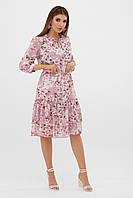 Элегантное женское платье с длинными рукавами