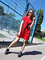 """Стильное женское платье - туника """" Off-white """" Разные цвета"""