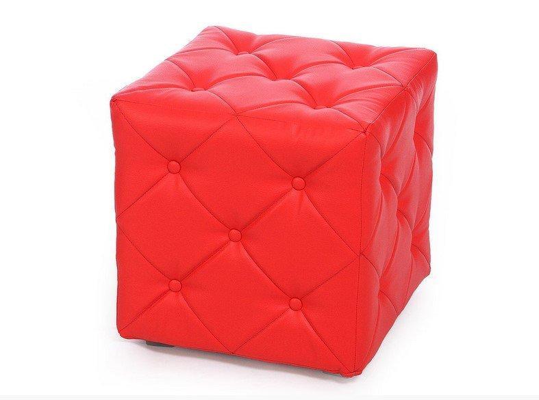 Пуф Ромби-1 Красный,пуфик,пуфики,пуф кожзам,пуф экокожа,банкетка,банкетки,пуф куб,пуф фото