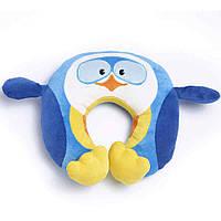 Детская подушка-игрушка для путешествий под шею Travel Blue Puffy the Penguin Пингви Синий (281)